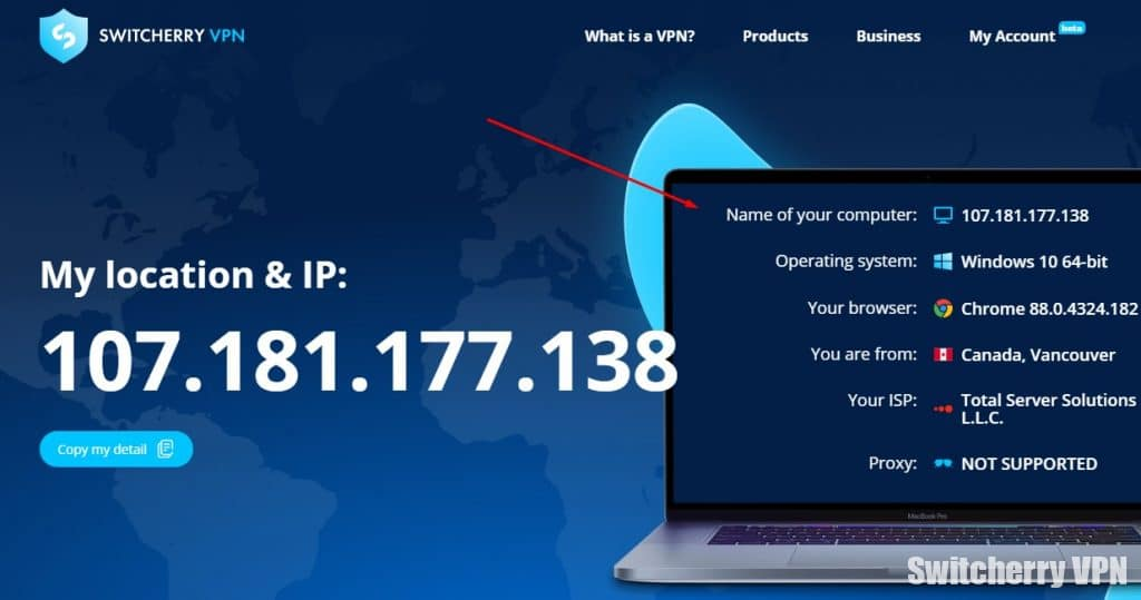 My IP-address without VPN