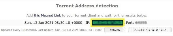 IP addresses must be the same
